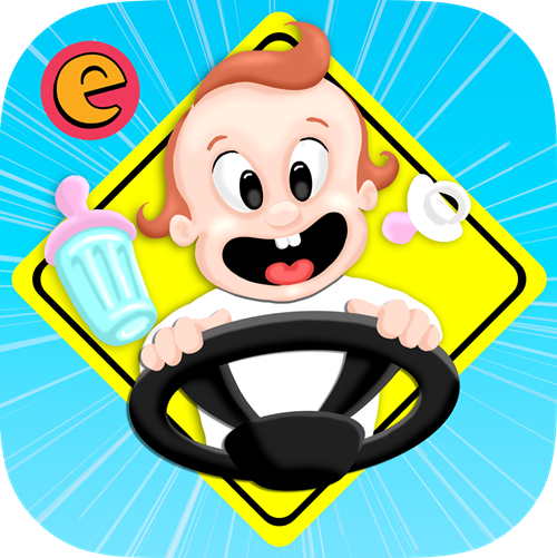 Image result for driving with baby cartoon