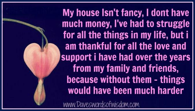 Daveswordsofwisdom.com: I'm Thankful For My Family and Friends