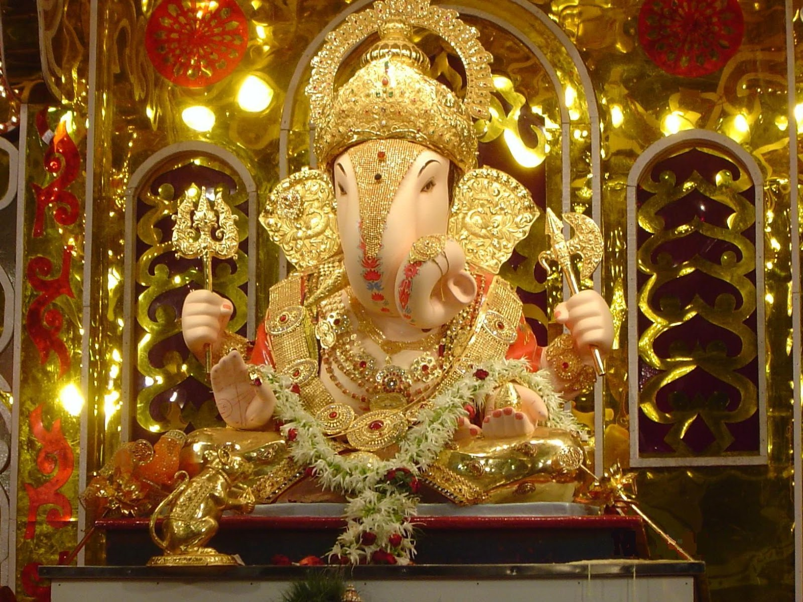 Festival 2013 Ganeshji Beautiful Latest Wallpaper