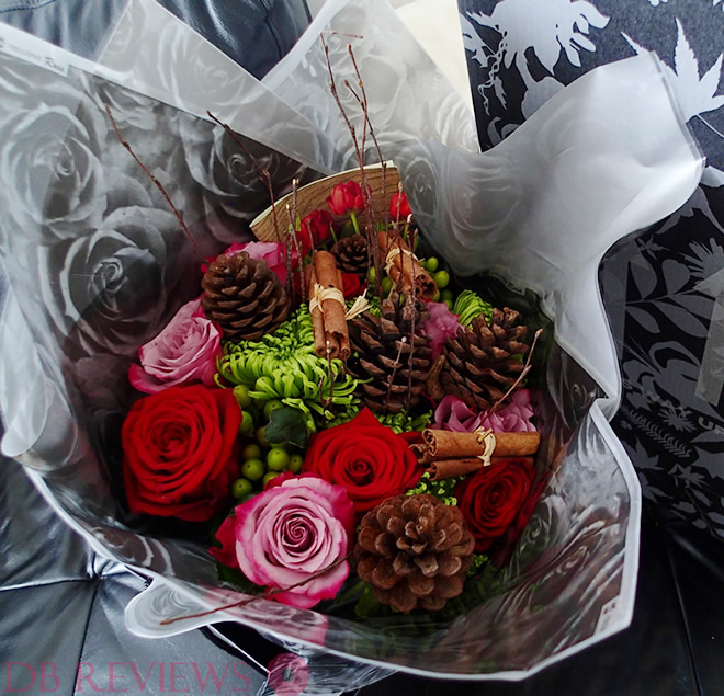 Christmas Flowers Bouquet from Prestige Flowers Haute Florist Range, Review