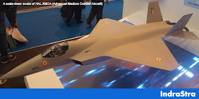 Cover Image Attribute: A scale-down model of HAL AMCA (Advanced Medium Combat Aircraft) / Source: IDRW
