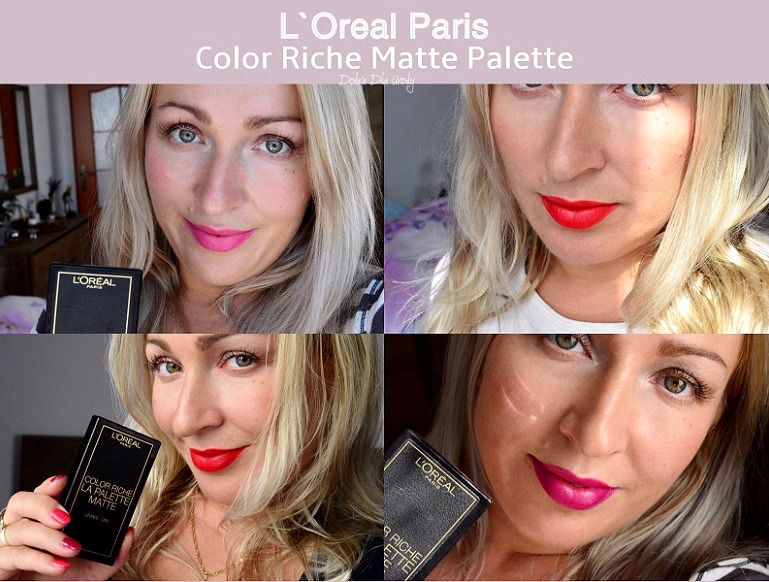 L'Oréal Paris Color Riche La Palette Matte - paleta matowych szminek do ust swatche