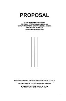 Contoh Proposal Pencairan Dana Bosda