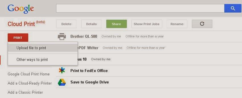 Geek IT ude: Google Cloud Print - A Remote Desktop Solution