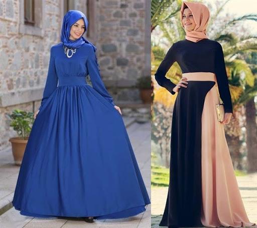 gaun pesta muslimah elegan terbaru 2016/2017