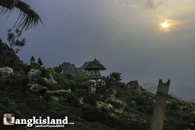 sunset stone garden