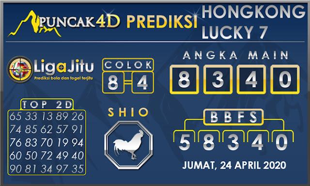 PREDIKSI TOGEL HONGKONG LUCKY7 PUNCAK4D 24 APRIL 2020