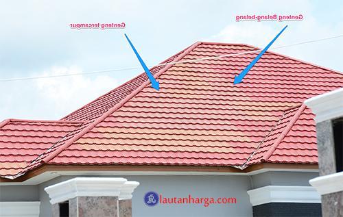 Ukuran Harga Genteng Metal Sakura Multi roof Berpasir Per Meter M2
