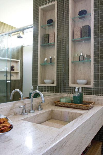 Nicho Bancada Banheiro : Construindo um castelinho
