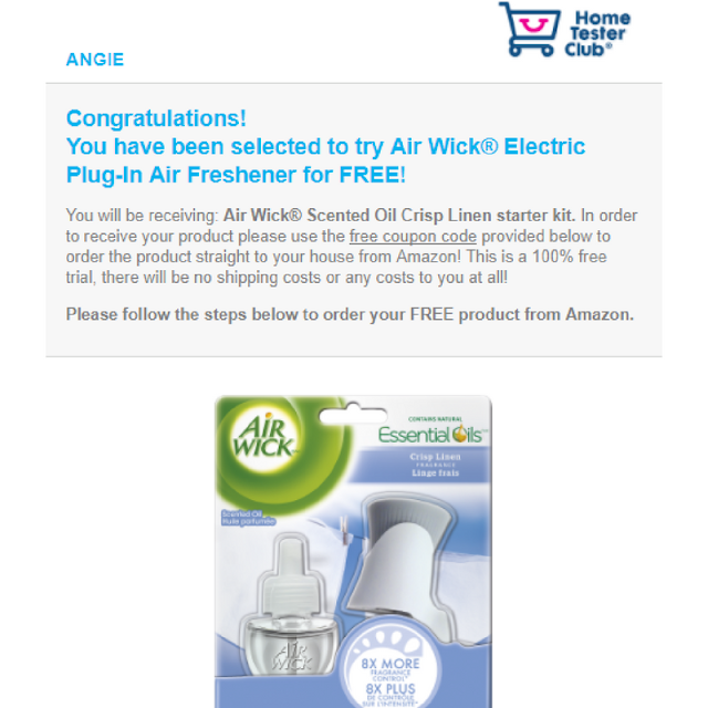 Free Air Wick Electric Plug-In Air Freshener from Brand Power.