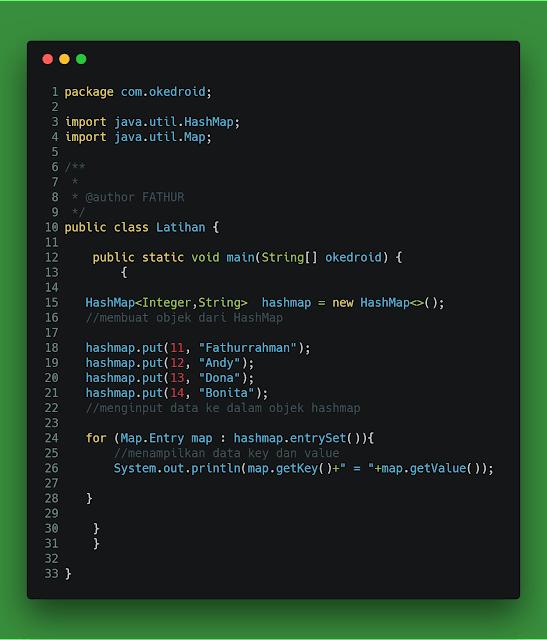yang merupakan struktur data di bahasa pemrograman Java  Belajar perihal HashMap pada Program Java