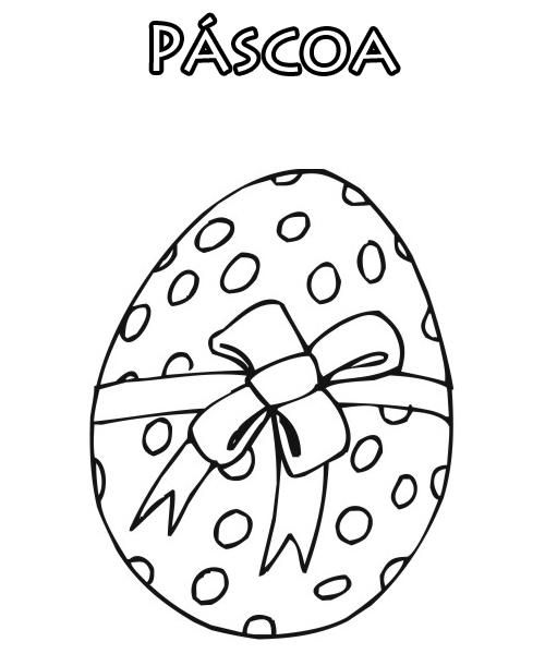desenhos para desenhar e colorir Ovos de páscoa