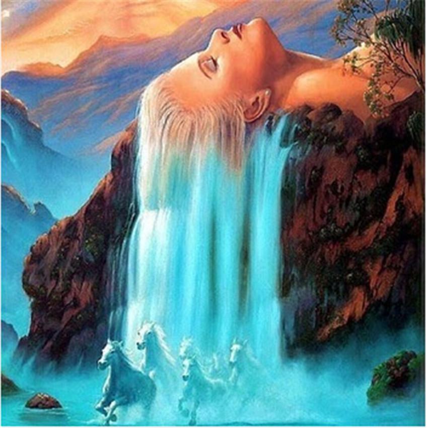 As mais belas cachoeiras pintadas em tela