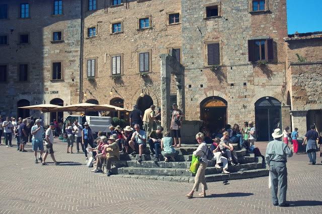 studnia na wodę centrum San Gimignano