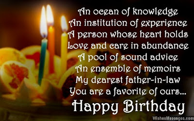 Happy Birthday  wishes quotes for father-in-law: an cocoon of knowledge