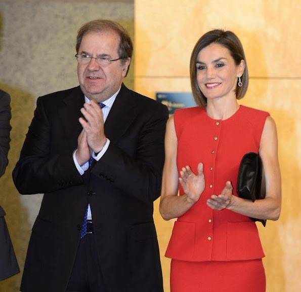 Queen Letizia of Spain who is Honorary President of the Spanish Association Against Cancer (AECC)