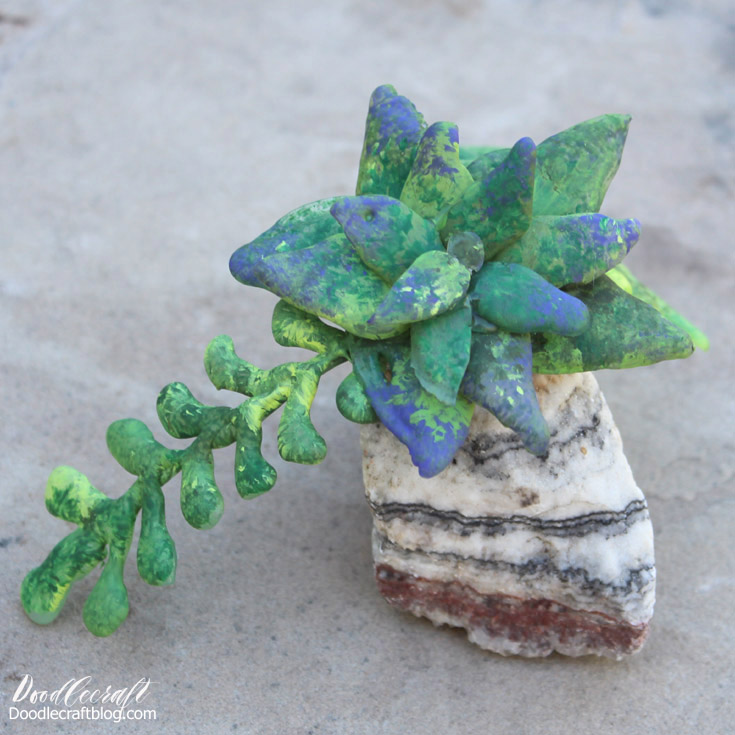 Hot glue to the rescue!  Hot glue crafts are quick and awesome, make a succulent planter in just a few minutes.