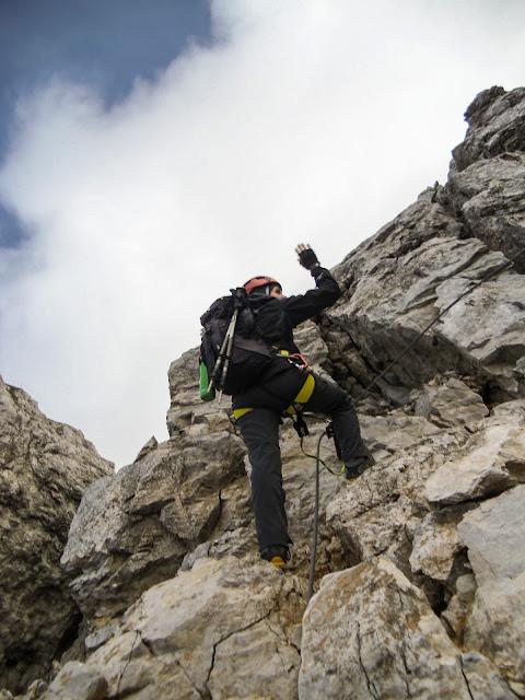 Am Klettersteig Koschutnikturm