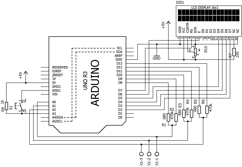 Rangkaian Dan Sketch Program Ardutester Komponen Tester Berbasis Arduino Ic Atmega328 Atmega 328 Sudah Bootloader Dengan Board Uno