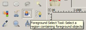 Foreground Select Tools Untuk Memilih Area Foreground dan Selanjutnya Mengganti Warna Background Foto