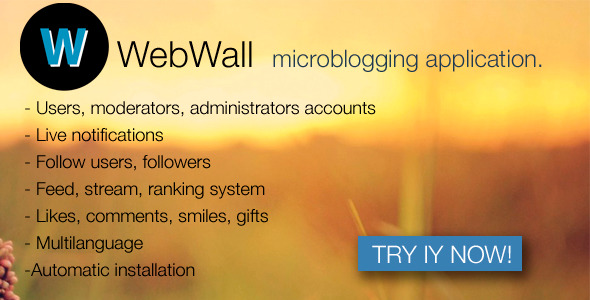 WebWall v1.1 - social microblogging application ~ Codecanyon