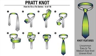 cara memakai dasi dengan cara pratt knot