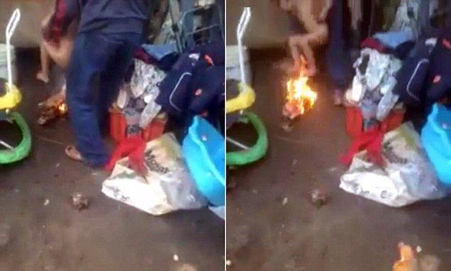 Πατριός-Τέρας βάζει φωτιά σε τρίχρονο παιδάκι για να το τιμωρήσει επειδή «έβρεξε» το κρεβάτι του…