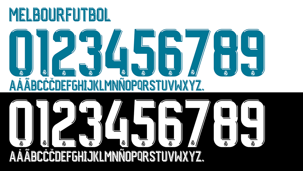 Real Madrid Font 201718 Free Download