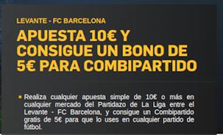 betfair promocion Levante vs Barcelona 16 diciembre