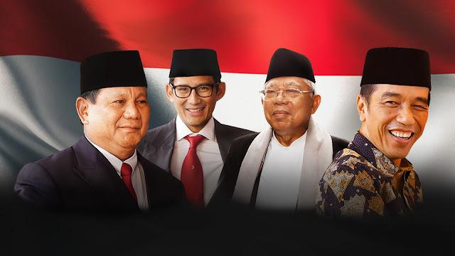 Survei: Jokowi-Maruf Unggul Tipis Dari Prabowo-Sandi