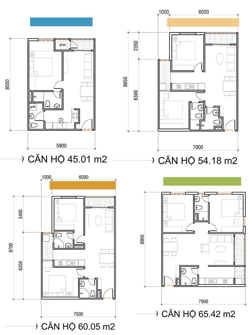 Thiết kế căn hộ Asa Light Quận 8