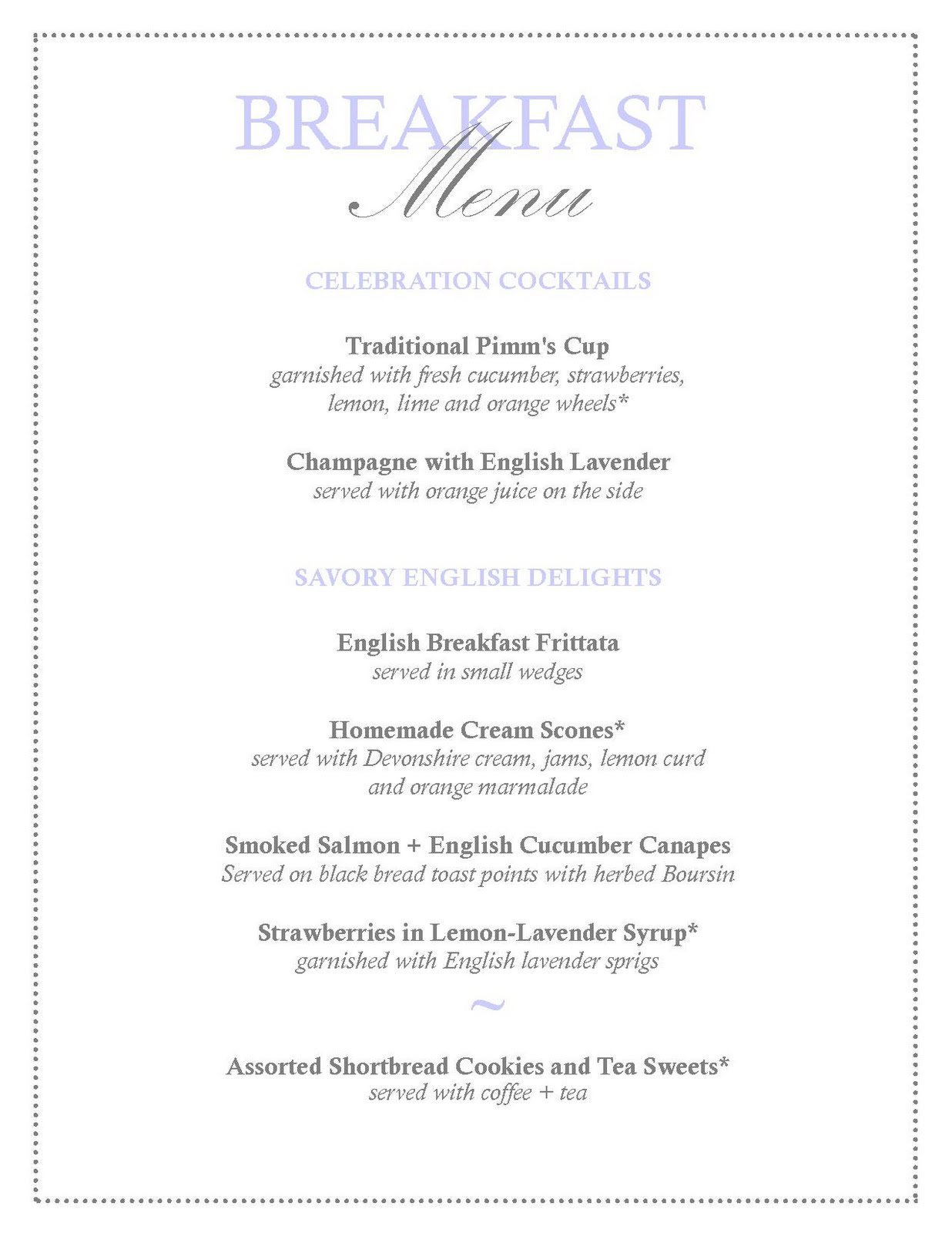 wedding breakfast menus midway media