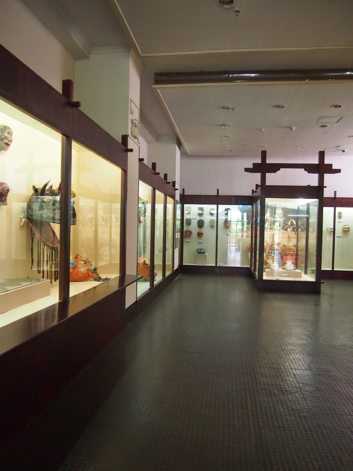 The mask exhibit at the Yunnan Nationalities Museum in Kunming, China