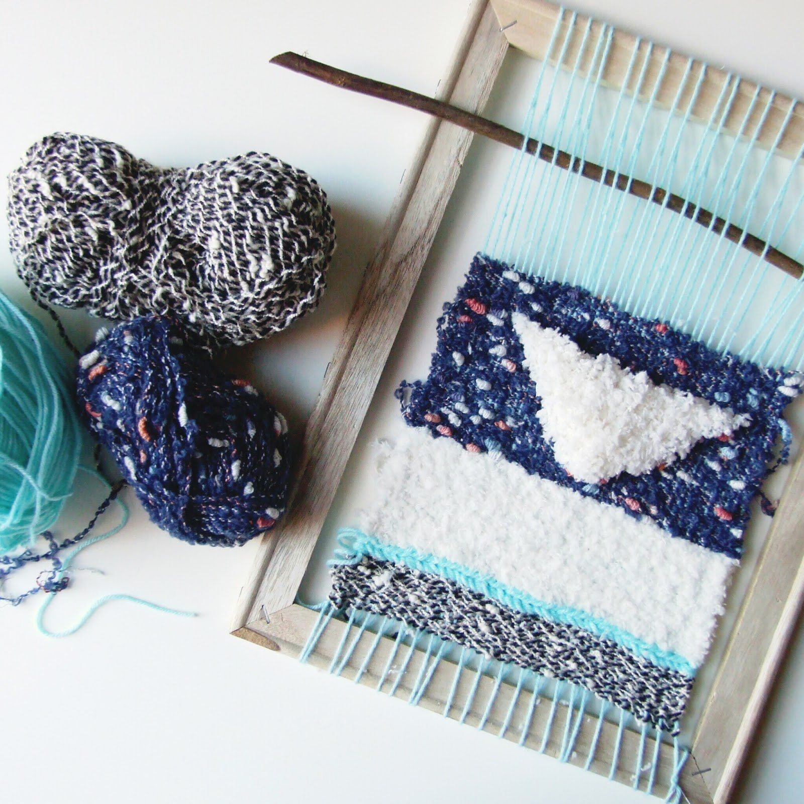 Around Here - A first attempt at weaving.