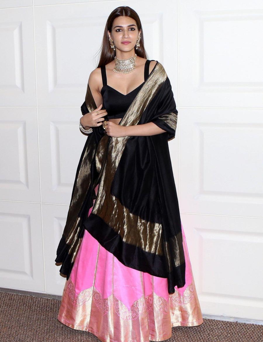 Kriti Sanon at Trailer Launch Of Film Panipat At Indus Club