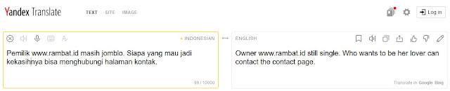 Situs Penerjemah Bahasa Terbaik & Akurat - Yandex Translate