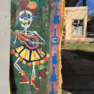 dancing skeleton graffiti