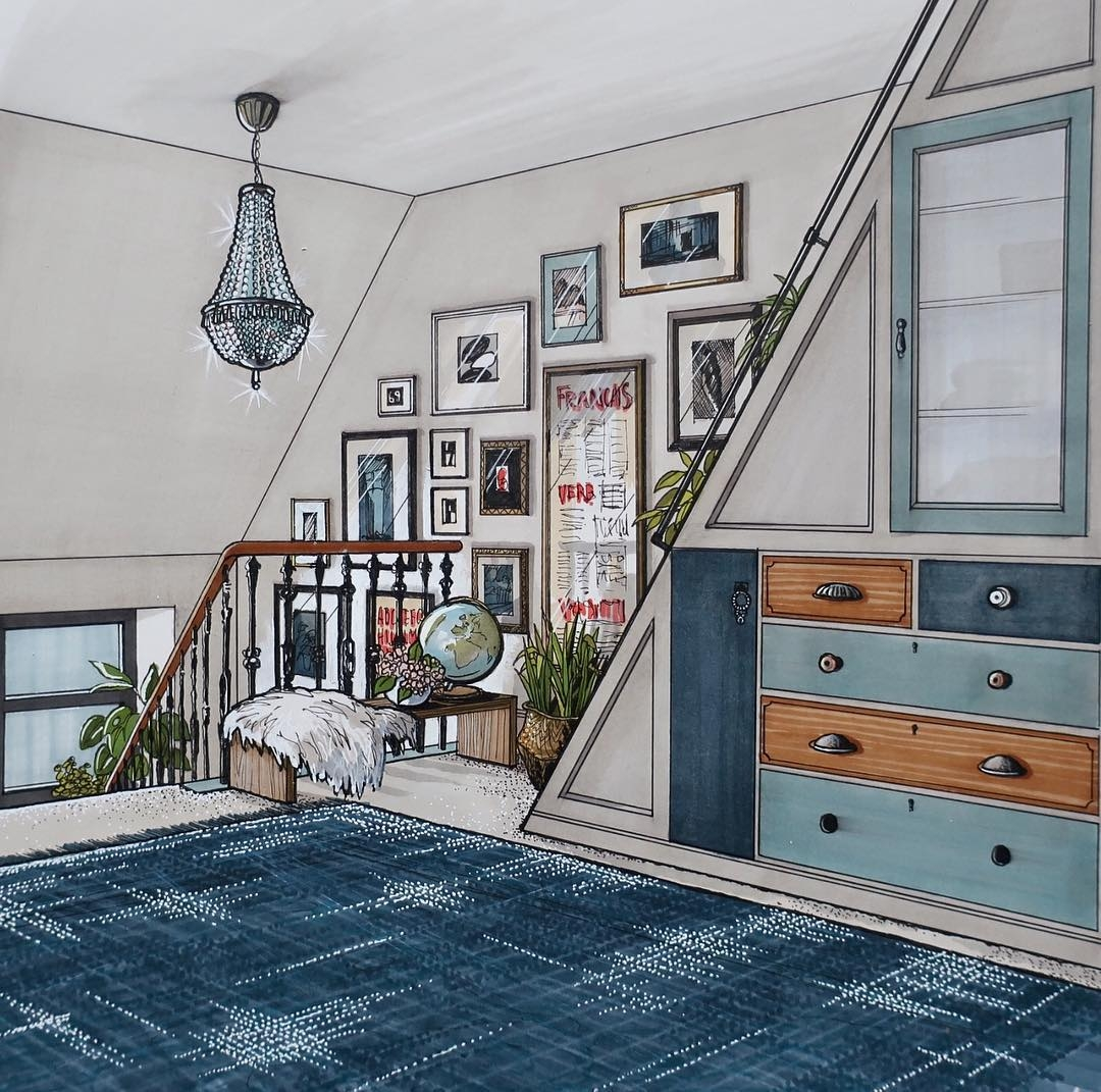 08-Attic-Stairs-Cupboard-Malcolm-Begg-Interior-Design-Drawings-of-a-Victorian-House-www-designstack-co