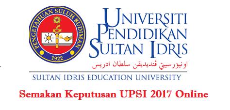 Semakan UPSI 2017 Online