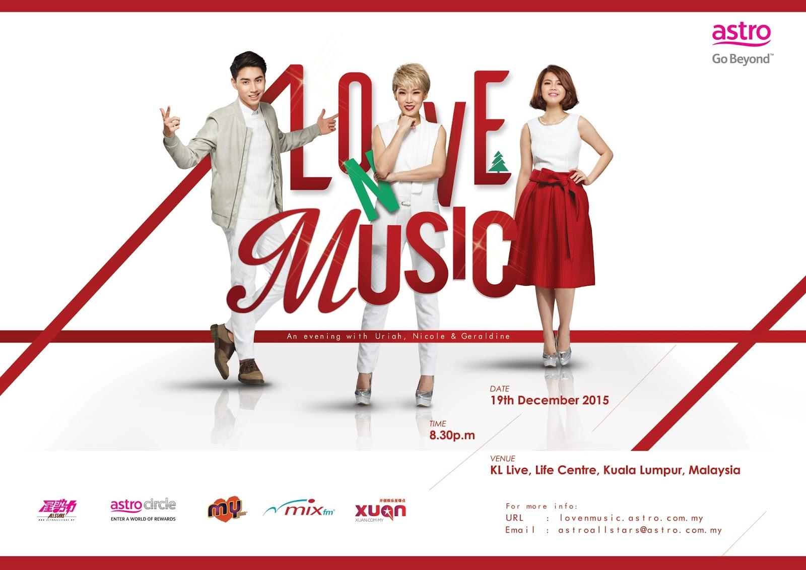 LOVE N MUSIC CONCERT ft Geraldine Gan, Nicole Lai and Uriah