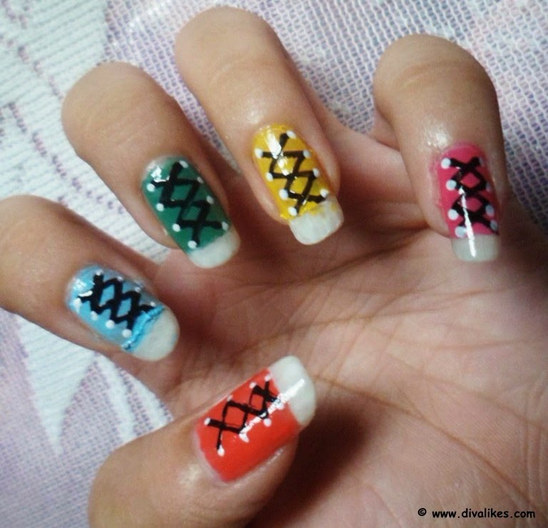 042a0cd05b33 Your school days are back with this converse shoe nail art. Doesn t it look  cute