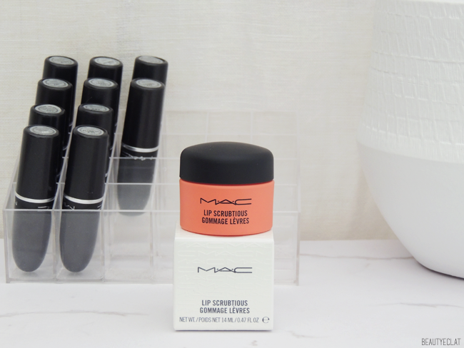 revue avis test swatch mac lip scrubtious gommage exfoliant levres