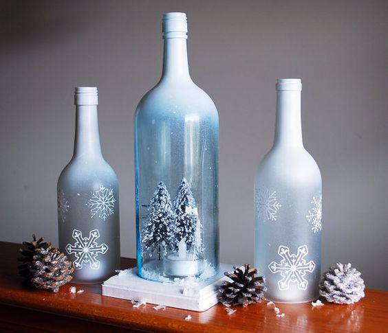 25 christmas decoration ideas with wine bottles do it for How to make wine bottle crafts