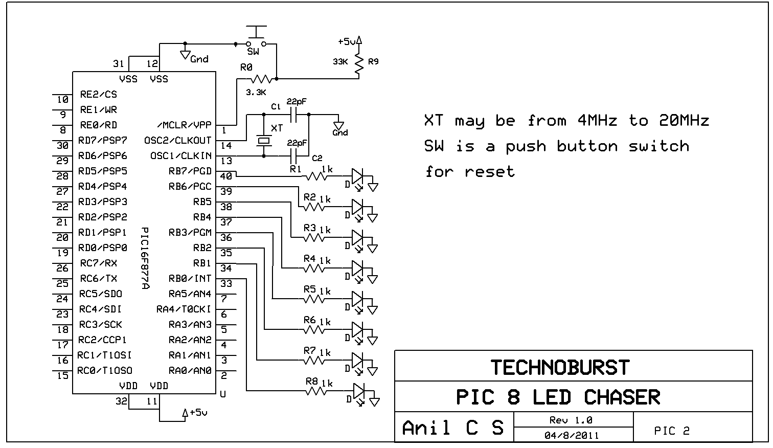 8 Led Chaser Circuit Diagram Free Download Wiring Diagrams Schematics Pic Programs 03 Technoburst Rain Detector 24