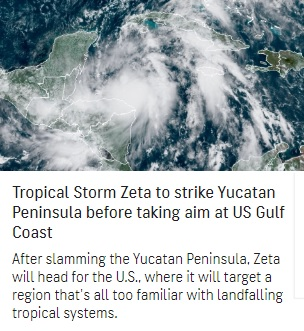 Hurricane Zeta in Line To Strike at Louisiana