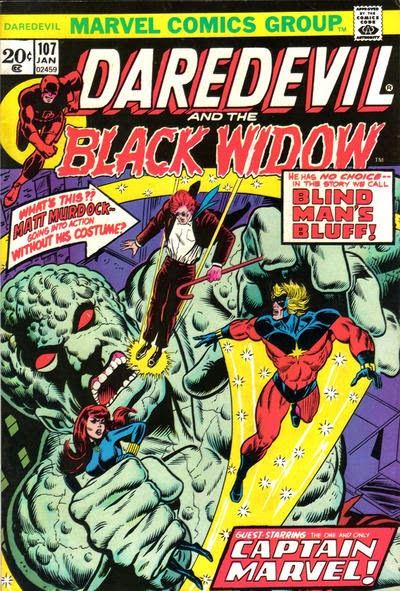 Daredevil and the Black Widow #107, Captain Marvel