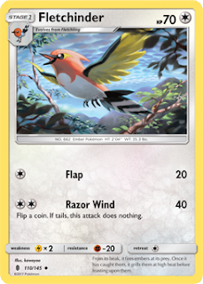 Fletchinder Guardians Rising Pokemon Card