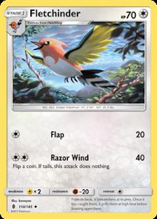 Fletchinder Guardians Rising Pokemon Card