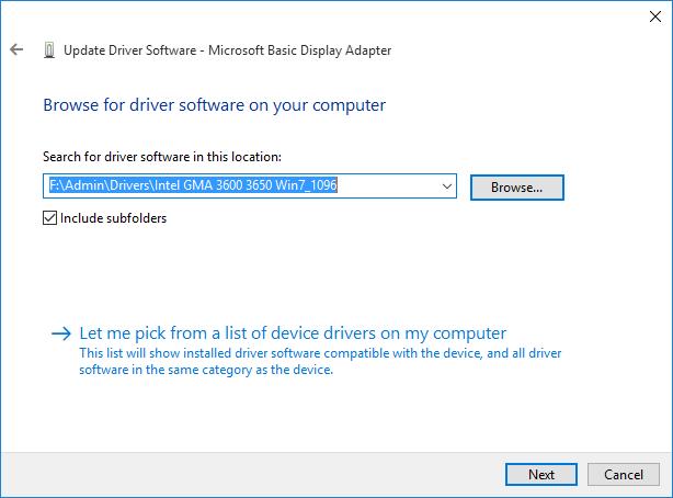 Intel gma 3600 drivers