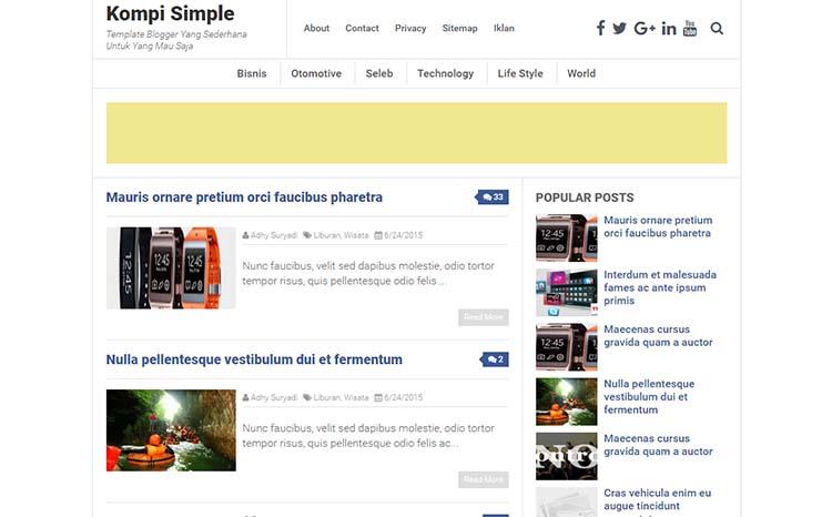 Free Blogger Template - Kompi Simple